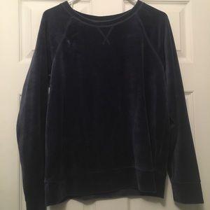 Navy blue velvet sweater!